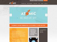 Atomic homepage full view
