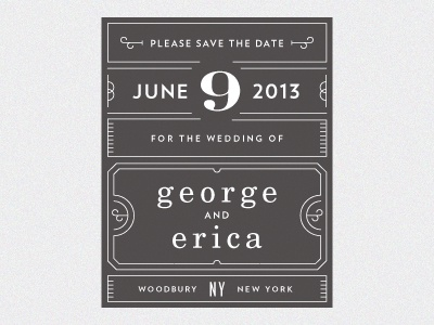 George erica save the date 01