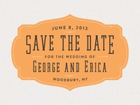 George & Erica Save The Date 2