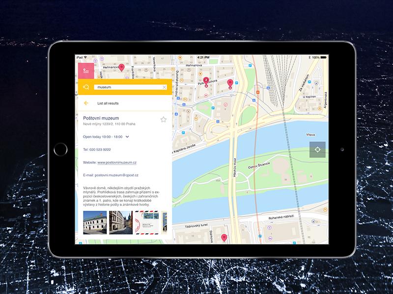 The Maps.me iPad interface ui ux application search ipad ios maps