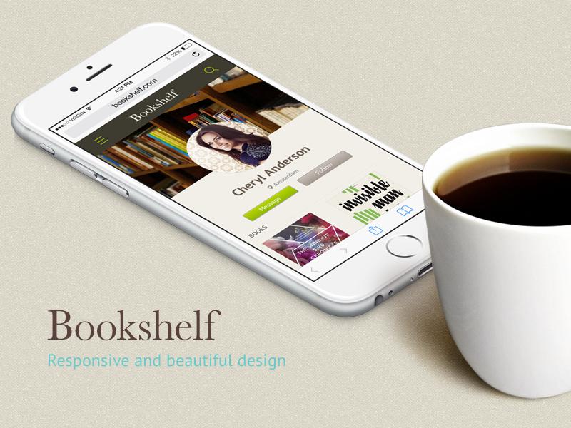 The mobile website of Bookshelf book-crossing platform ui mobile web design network social website responsive