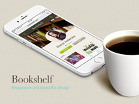 The mobile website of Bookshelf