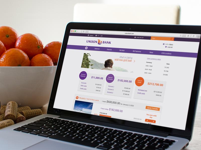 Online banking service for UnisonBank web virtual banking e-banking internet banking online banking