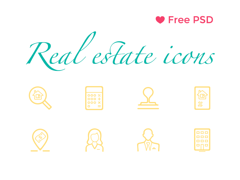 Free Real Estate Icons psd full line icon icons real estate get it free