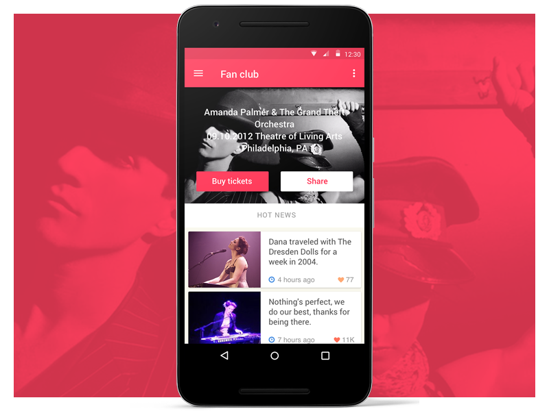 Music is coming samsung mock-up sketch free download ui kit google material design android