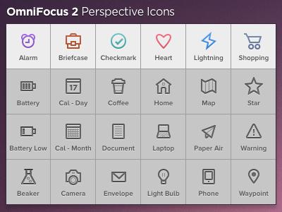 OmniFocus 2 Perspective Icons app icons mac omnifocus omnigroup perspective productivity