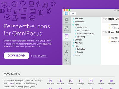 Perspective Icons for OmniFocus Website