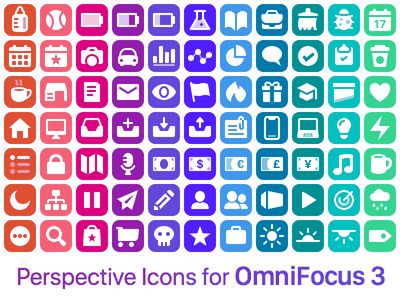 Perspective Icons for OmniFocus 3 for iOS ios productivity app icons colorful gtd omnigroup omnifocus