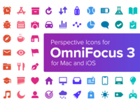 Perspective Icons for OmniFocus 3 for Mac and iOS
