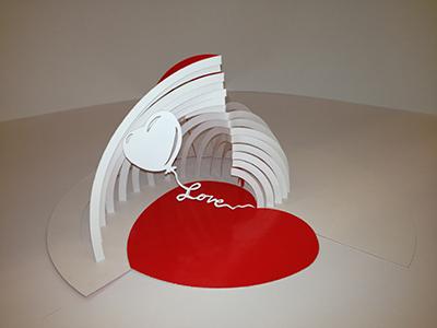 Love Heart paperdesignpaper paper cutting paper sculpture paper love pop-up pop-ups paper engineering paper heart love balloon valentines love