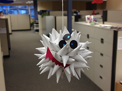 Mini Funny Spiky three-eyes funny face silly paper fun paper engineering paper sculpture paper spiky