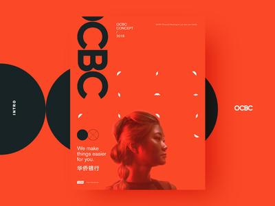 OCBC poster muzli case singapore china ocbc red layout graphics visual poster finance bank