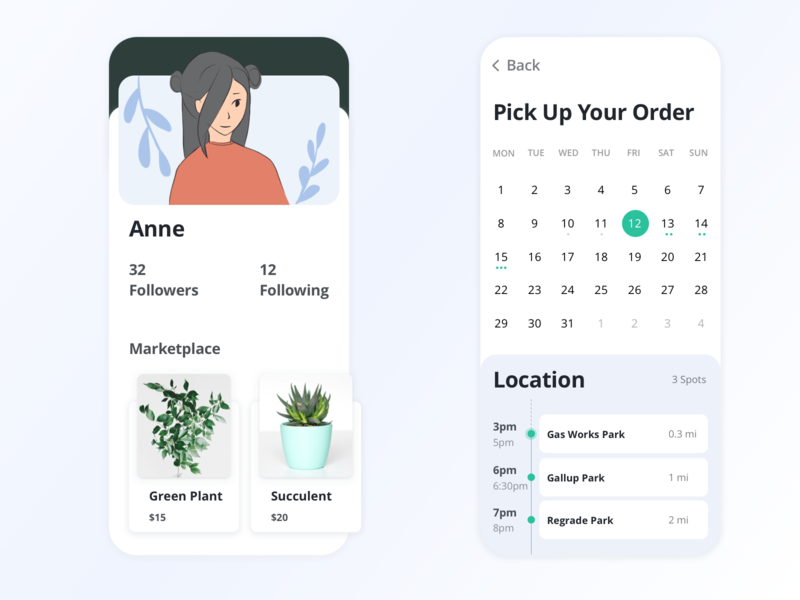 Daily UI: user profile interaction design illustration dailyui graphic design ui visual design