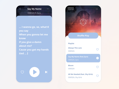 Daily UI: Music Player visual design ui interaction design
