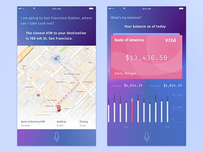 AI for bank app visual design bank mockups data visualization interaction design ai