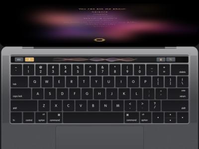 Voice Control - Macbook Pro Touch Bar- Finie Clinc visual design touch bar mac interaction design ai