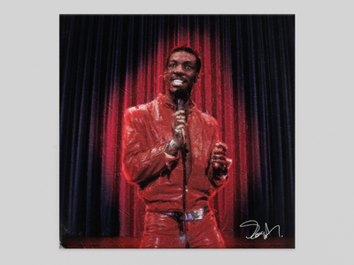 """Delirious"" by Eddie Murphy illustration graphic design graphic design cover design collage art cover album"
