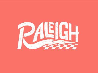 Raleigh! livingcoral coral city capital northcarolina checkers lightning illustrator vector illustration typography pantone2019 pantone retro nc raleigh