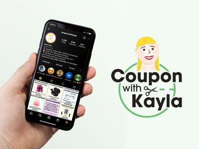 Coupon with Kayla Illustration & Logo personal branding mockup illustration character tiktok influencer logo couponing