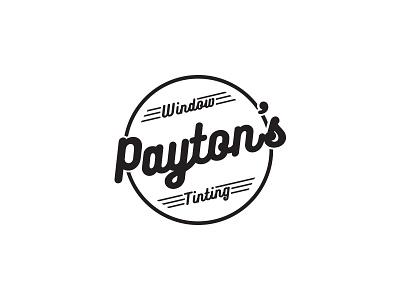 Payton's Window Tinting Logo business classic automotive tinting window retro decal logo