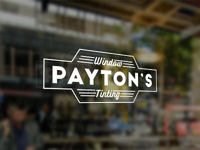 Payton's Window Tinting Logo Pt.2 classic automotive tinting window retro decal logo