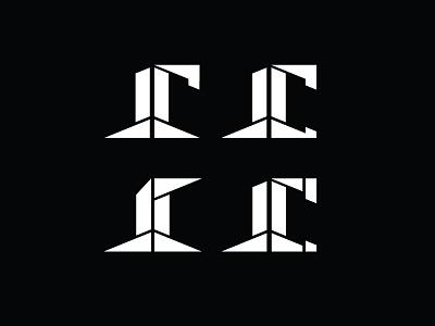 Personal Logo Exploration shapes geometry logo initials edgy