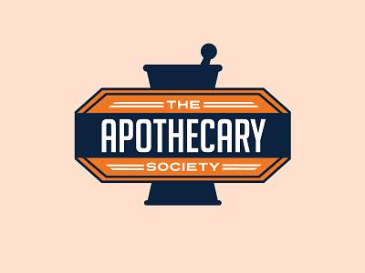 Auburn University Apothecary Society Logo Concept orange blue logo pharmacy apothecary