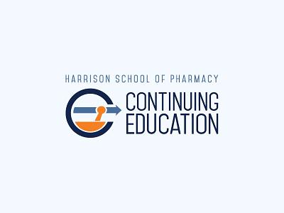 Auburn HSOP Continuing Education Logo university forward branding pharmacy logo education arrow mortar and pestle