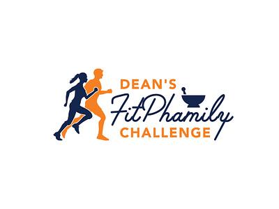 Dean's FitPhamily Challenge Logo typography challenge fitness challenge fitness logo fitness pharmacy logo