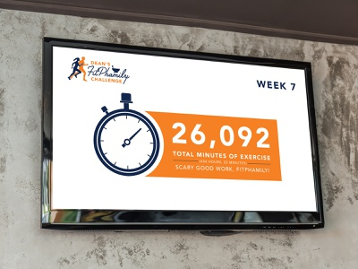 Dean's FitPhamily Challenge Infographics infographics infographic data stopwatch challenge fitness challenge fitness pharmacy