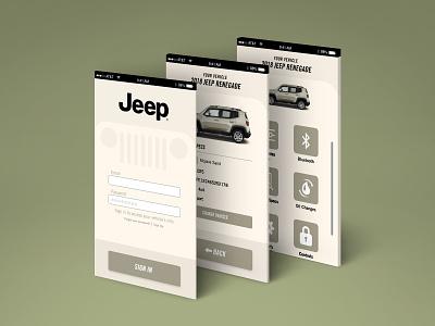 Jeep App Screens sign in menu layout app design app jeep ux ui screens screen