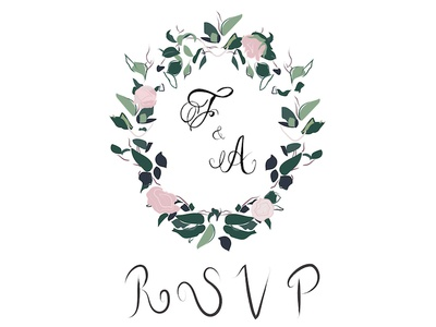 Fanny and Adam's RSVP Card