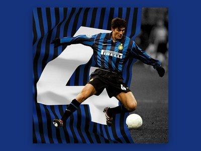 36 Days of Type number 4 milan inter zanetti javier type of footwalls football days 36 4 number
