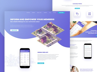 LandingPage for Community Web App
