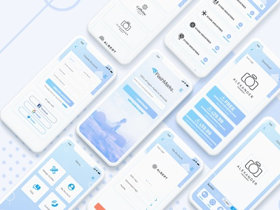 Logo Maker App flat typography logo applicaiton uiux uidesign interface app design app