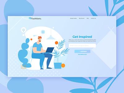 Logo Maker Desktop Ver Homepage Concept website design illustration interface ui search webdesign