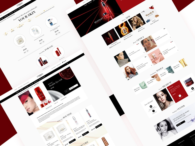 L'oreal Official Website Redesign makeup cosmetics ecommerce interface official website design website uiux web deisgn loreal