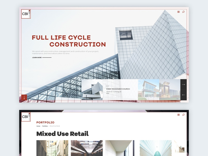 Construction Website Design construction branding uiux flat ux ui design website interface
