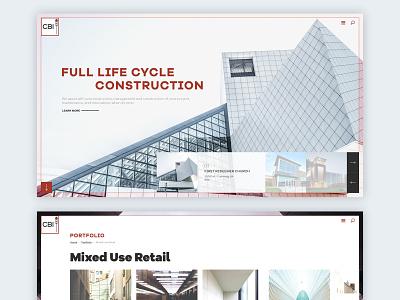 Construction Website Design construction branding uiux flat ux ui design website interface