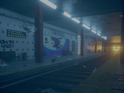 01:19AM 34st Subway illustration octanerender c4d 3d