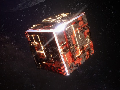 Tesseract poster 3dart universe space octanerender replacement illustration c4d 3d