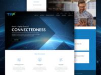 TPx Homepage Design