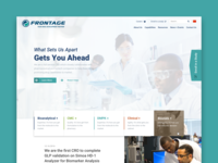 Frontage Labs Website Design