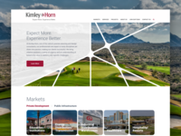 Kimley-Horn Homepage Design