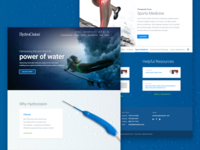 HydroCision Homepage Design