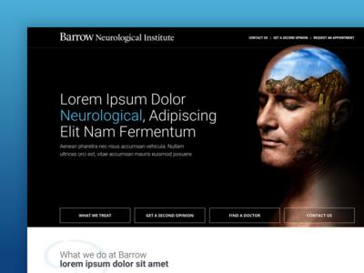 Barrow Landing Page Concept healthcare modern ui ux web design medical neurology landing page