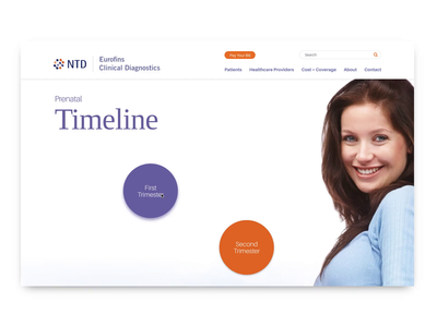 Interactive Prenatal Timeline web animation sketch invision interactive healthcare animation timeline web design invision studio