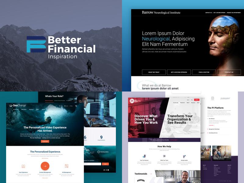 2018 branding homepage interface sketch wordpress landing page web design daily ui