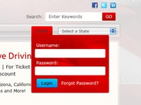 Login Form login navigation dropdown form