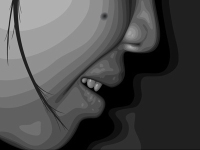 bhe illustration vector girl greyscale xtianares philippines christian castanares